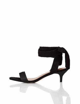 Find. Amazon Brand Women's Tie Up Sandal With Kitten Heel