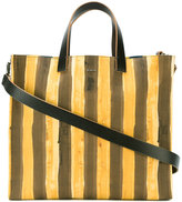 Fendi watercolour pequin tote - men - Leather/Cotton - One Size