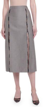 Fendi Logo-Piped Menswear Pencil Skirt