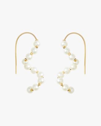 Poppy Finch Baby Pearl Short Wave Drop Earrings