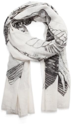 MANGO Birds print foulard