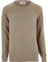 River Island MensBrown Jack & Jones Vintage seam sweater