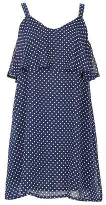 Dorothy Perkins Womens *Tenki Navy Polka Dot Ruffle Skater Dress