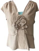 Saint Laurent Purple Silk Top for Women Vintage