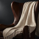 Crate & Barrel Landyn Sesame Throw