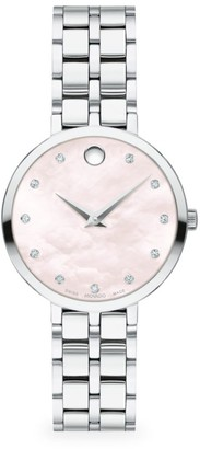 Movado Kora Diamond Stainless Steel Bracelet Watch