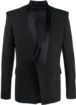 Balmain Collection fit pointed collar jacket