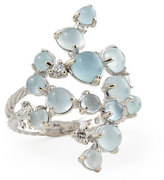 Paul Morelli Aquamarine & White Diamond Bubble Cluster Ring