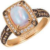 LeVian Le Vian Chocolatier 14K Rose Gold 1.09 Ct. Tw. Brown & White Diamond & Opal Ring