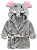 BELLE-LILI Kids Girls Fleece Robe Cotton Animal Dinosaur Hooded Bathrobe (4T-5T, )
