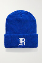 Thumbnail for your product : R 13 Embroidered Ribbed-knit Beanie - Blue