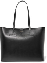 Tom Ford T Textured-leather Tote - Black