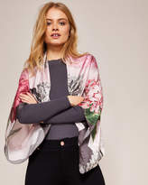 Ted Baker Palace Gardens silk cape scarf