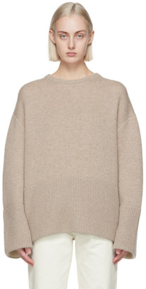 Totême Beige Double Sided Cashmere Knit Sweater