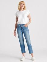 Lucky Brand Mid Rise Authentic Straight Crop Jean
