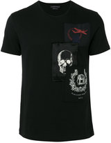 Alexander McQueen patch appliqué t-shirt - men - Cotton/Viscose - S