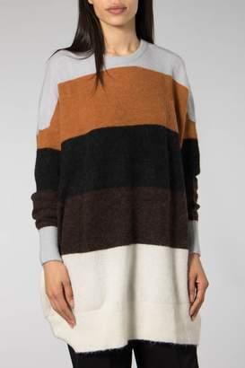 Just Female Pearl Blue Sheena Knit Sweater - XSMALL