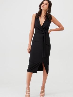 Very Knot Front Stretch Bodycon Dress - Black