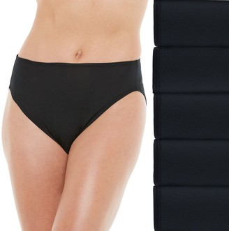 Fruit of the Loom Women's 5-pack Signature Microfiber Hi-Cut Panty 5DKMFHC