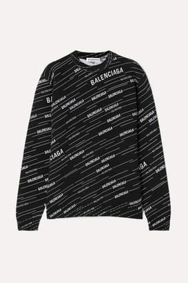 Balenciaga Intarsia Wool-blend Sweater - Black