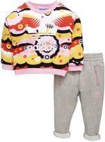 adidas Baby Girl Print Crew Top And Pant Set