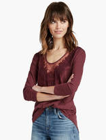 Lucky Brand Washed Applique Top