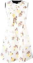 Celine floral print flared dress - women - Silk/Acrylic/Polyamide/Polyester - 38