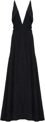 Michael Lo Sordo Alexandra V Neck Lace Maxi Dress