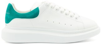 Alexander McQueen Raised-sole Leather And Suede Trainers - White