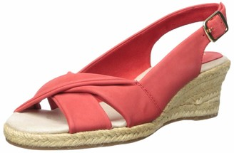 Easy Street Shoes Women's Maureen Espadrille Slingback Sandal Wedge
