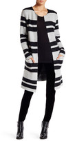 Dex Open Front Striped Cardigan Sweater