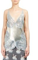 Stella McCartney Lace Inset Foil Front Blouse