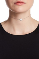 Argentovivo Sterling Silver 'J' Initial Heart Choker Necklace