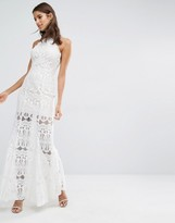 Missguided High Neck Premium Lace Maxi Dress
