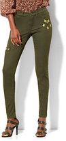 New York & Co. Soho Jeans - Patch-Accent Superstretch Legging - Woodland Green