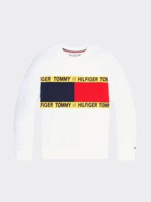 Tommy Hilfiger Repurposed sweatshirt met vlaggenprint
