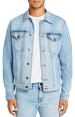 Frame L'Homme Distressed Regular Fit Denim Jacket in Colton