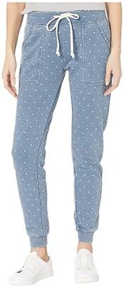Alternative Burnout French Terry Long Weekend Pants (Bay Blue Pindot) Women's Casual Pants