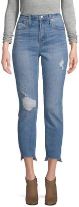 Madewell High-Rise Ripped Step-Hem Boyfriend Jeans