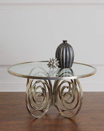 Global Views Delicate Scroll Coffee Table