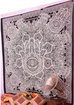 Handicrunch Hamsa Hand Tapestry Throw Indian Hippie Tapestry Urban Sketched Hand Tapestry Wall Decor Dorm Tapestry MERLINE