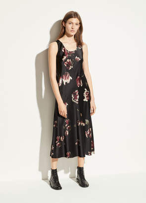 Vince Mixed Tulip Satin Slip Dress