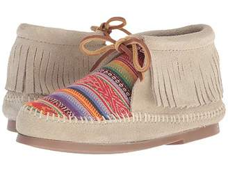 Minnetonka Kids Frisco (Toddler/Little Kid/Big Kid) (Stone Suede) Girls Shoes