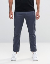 Farah Trouser In Stretch Hopsack Slim Fit Grey