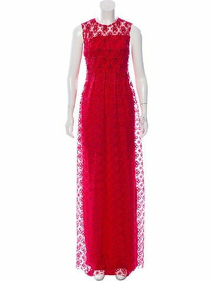 Huishan Zhang Embellished Lace Dress