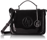 Armani Jeans Eco Patent Top Handle Crossbody