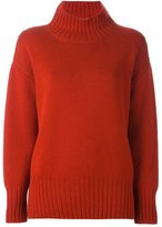 Malo roll neck ribbed pullover