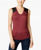 Calvin Klein Jeans Mixed-Media Tank Top