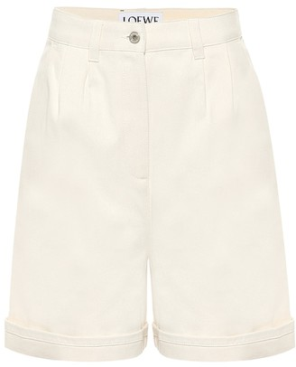 Loewe High-rise cotton Bermuda shorts