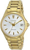 Citizen PA0002-59A Women's Signature Grand Classic White Dial Gold Tone Steel Automatic Watch